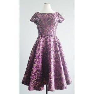 Shabby Apple Purple Cezanne Circle Skirt Dress